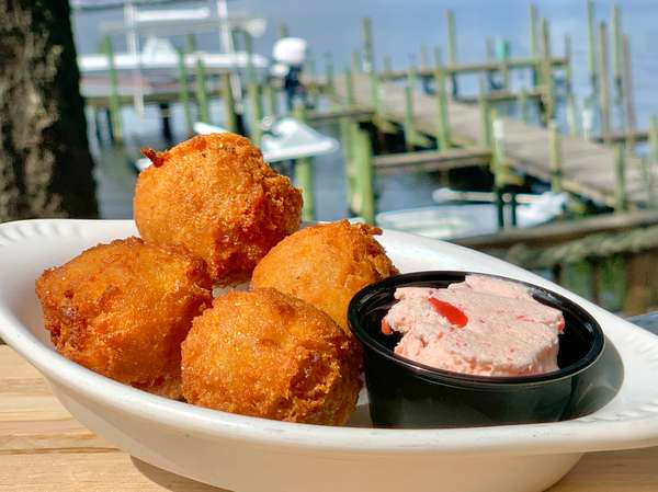 Famous Hushpuppies and Strawberry Butter