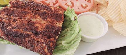 Grilled Cajun Mahi Sandwich