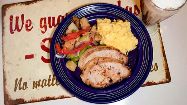 Pork Chop and Eggs