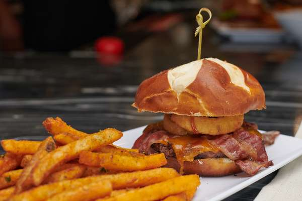Mike's Smoked BBQ Bacon Burger *