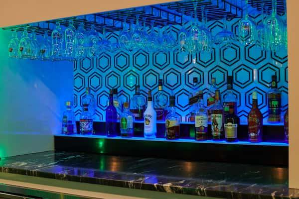 lighting behind the bar