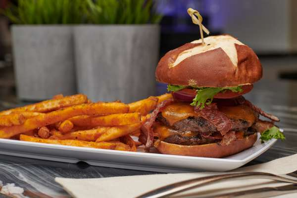 Mike's Double Bacon Burger *