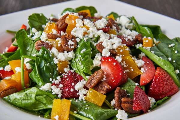 Baby Spinach & Golden Beet Salad