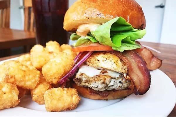 Chicken Bacon Avocado Burger