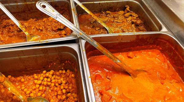 Catering dishes with tasty Himalaya food