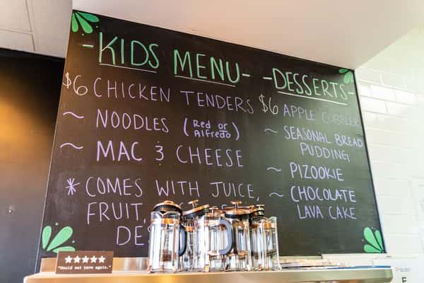 Kids Menu and Dessert Menu Blackboard