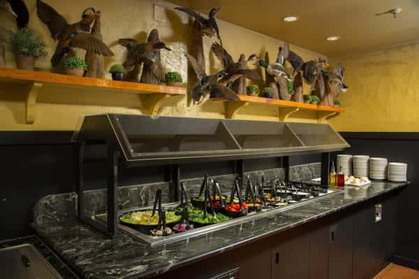 decorations and salad bar