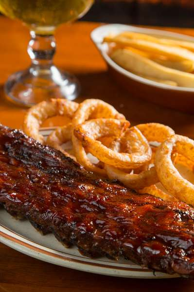 ribs and onion rings
