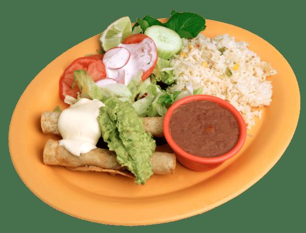 Taquitos con Guacamole