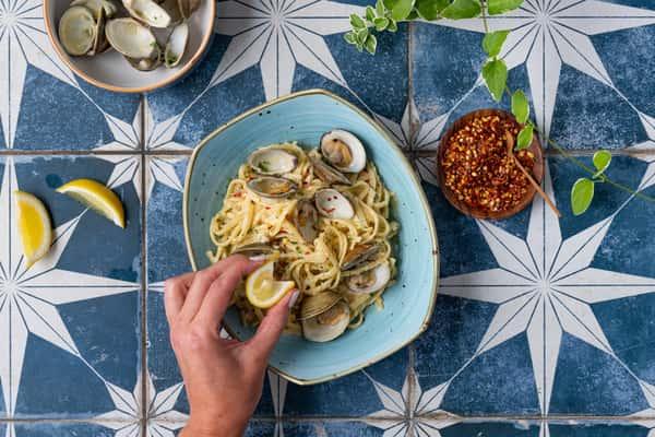 Linguini + Clams