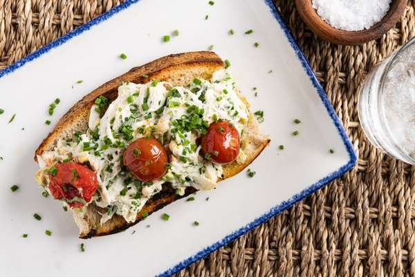 Crab + Shrimp Bruschetta