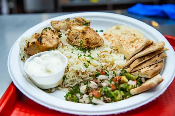 Chicken Kabob Platter