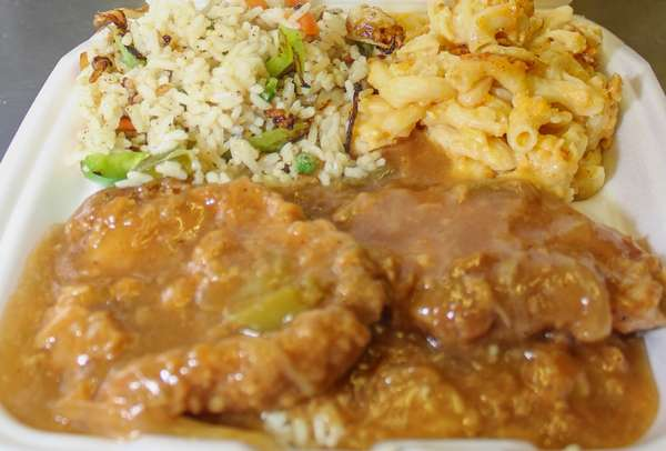 Smothered Pork Chops Over Rice (no side)