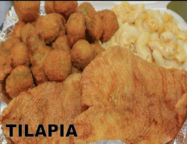 Fried Fish - Tilapia (with two sides)