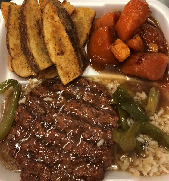 Hamburger Steak Over Rice(no sides)