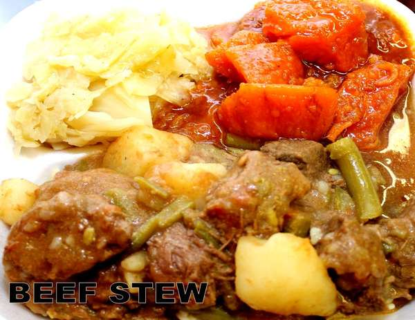 Beef Stew Over Rice