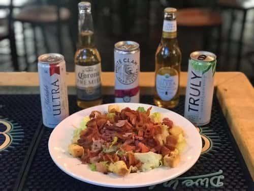 club salad and drinks
