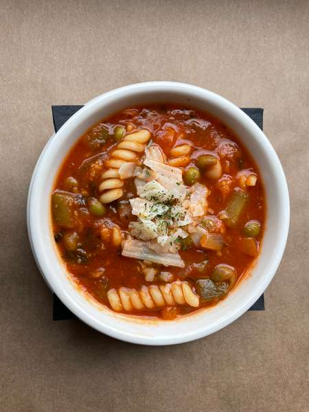 minestrone with rotini