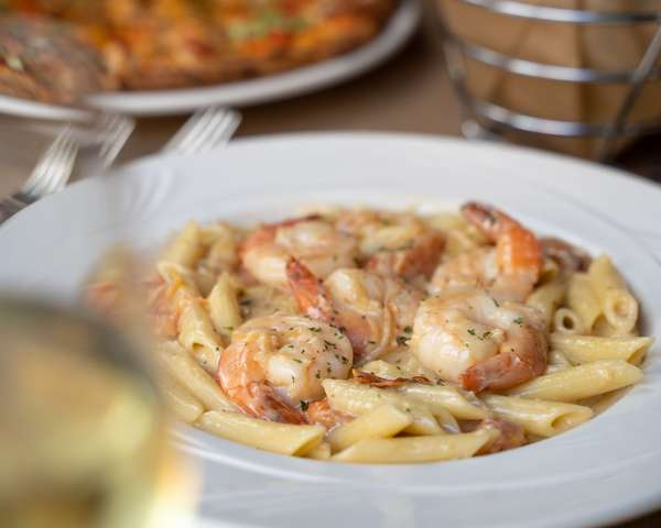 alfredo with chicken or shrimp