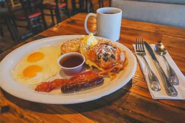 Blueberry Muffin French Toast Plate