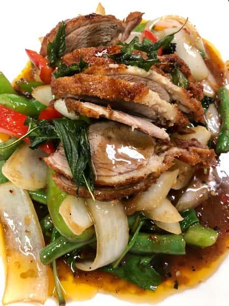 Spicy Basil Duck