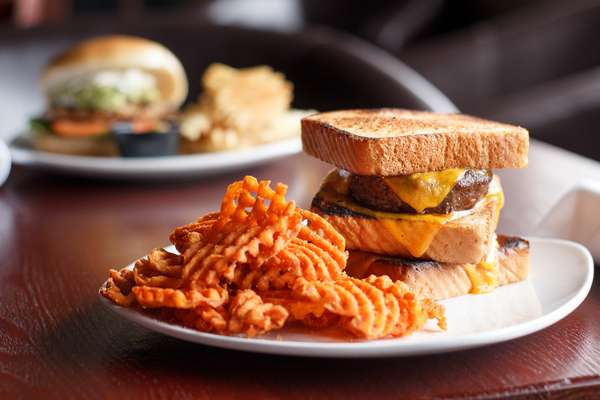 Sandwich and Waffle Fries