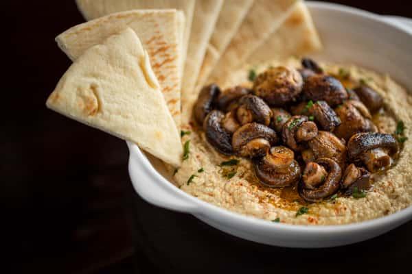 Hummus Mushroom Plate