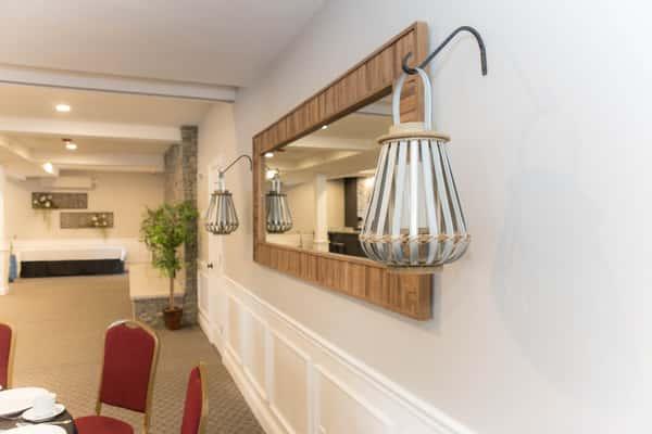interior lamp Slater's Function Hall