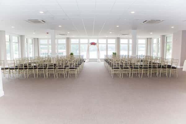 waterfront room wedding