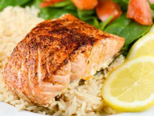 Fire-Grilled Blackened Salmon