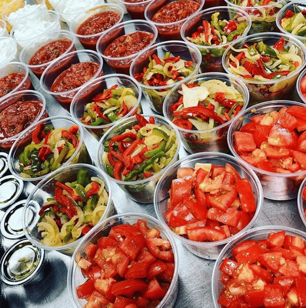 catering toppings