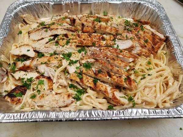 Blackened Chicken Linguine (serves 4+)