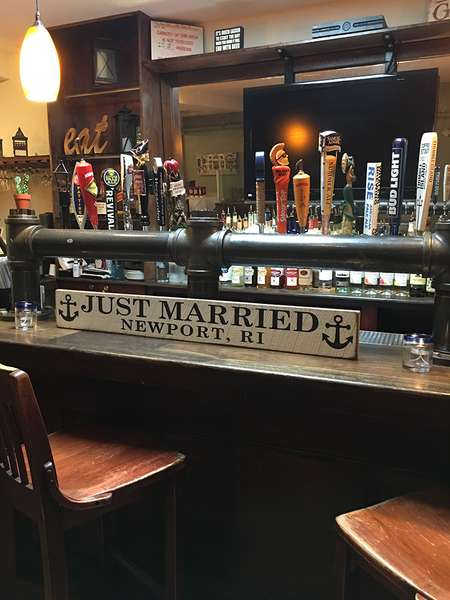 bar set up for brunch