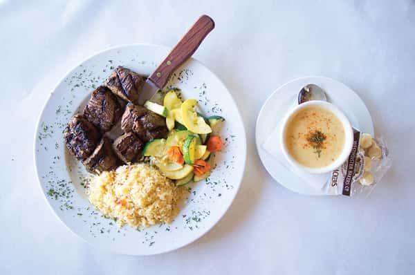 Steak Tips & Clam Chowder