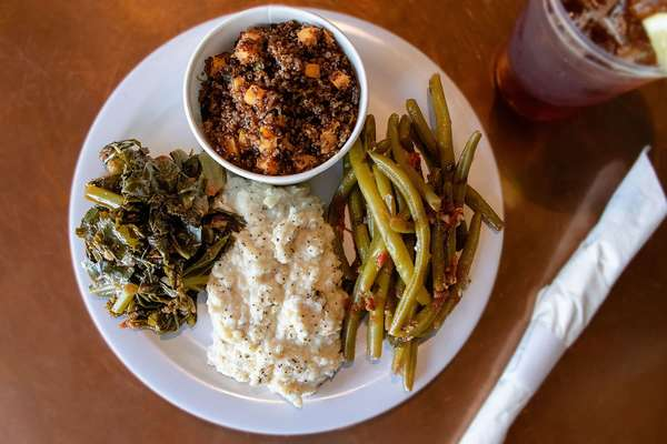 Seasonal vegetable plate