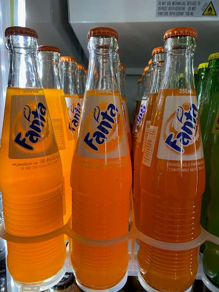Fanta Glass Bottle