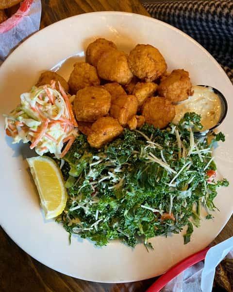 potato tots and salads