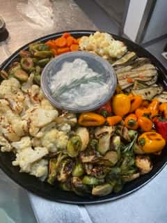 Roasted Vegetable Platter with Dip