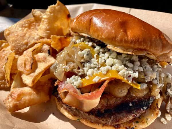 Bleu & Gold Burger