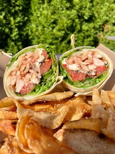 Grilled Greek Chicken Wrap