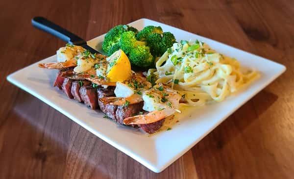 Grilled Angus Sirloin & Shrimp