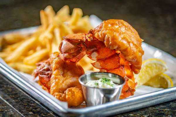 FRIED LOBSTER TAIL WITH FRIES