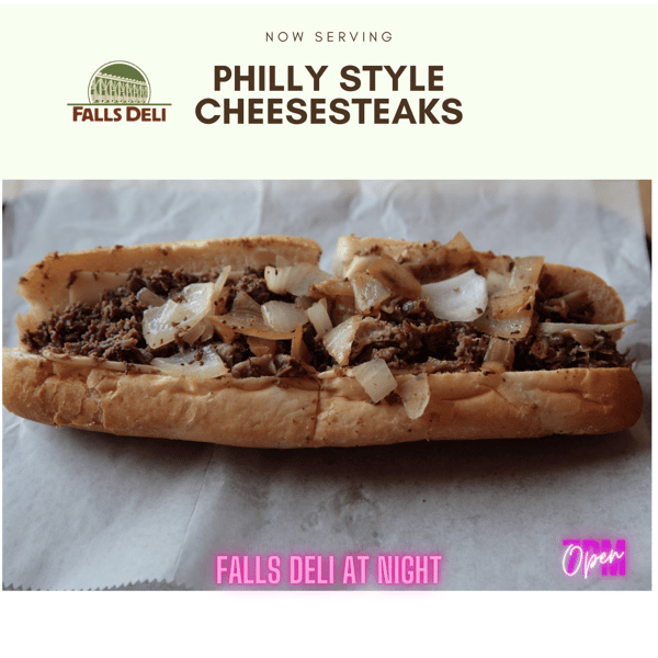 Cheesesteaks Now serving