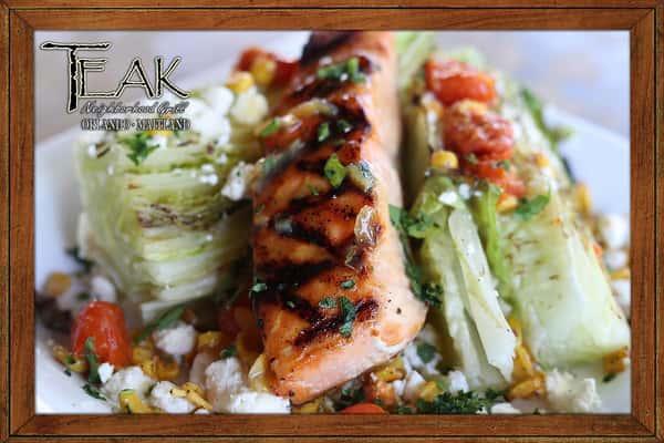 Grilled Romaine & Salmon