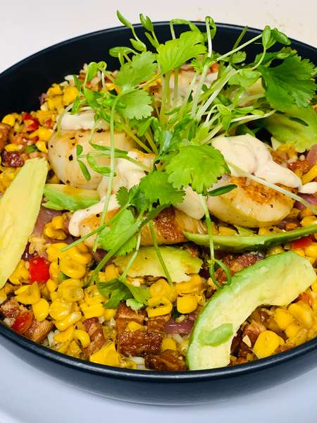 Seared Scallop Rice Bowl