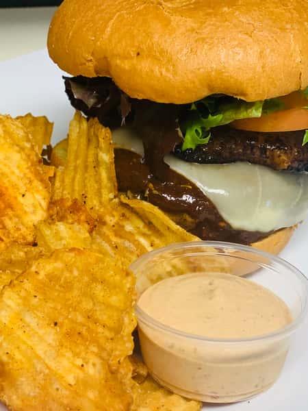 Caribbean Jerk Burger