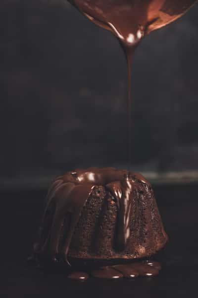 Mini Chocolate Lava Bundt Cake
