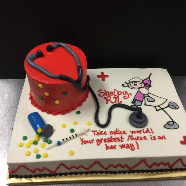 healthcare professional party cake