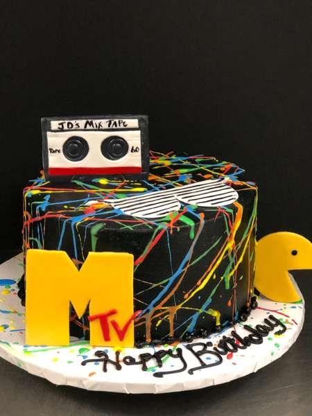 MTV/80s party cake