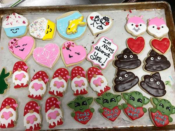 Various decorated sugar cookies